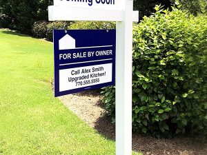 Post Sign for Real Estate