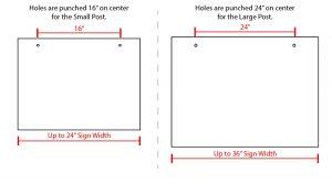 Real Estate Post Sign Size Comparison